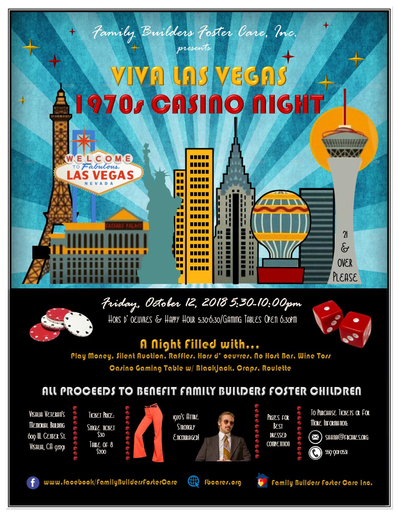 Flyer showing Vegas Fundraiser information